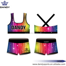 Custom Cute Girls and Kids Wholesale Cheerleading Uniforms Designs subliamtion short cheerleading singlet