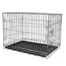 Wholesale popular colorful heavy duty folding iron mesh dog crate 36'' plastic dog crate
