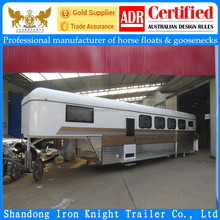 China imported 4 horse gooseneck float gooseneck trailer