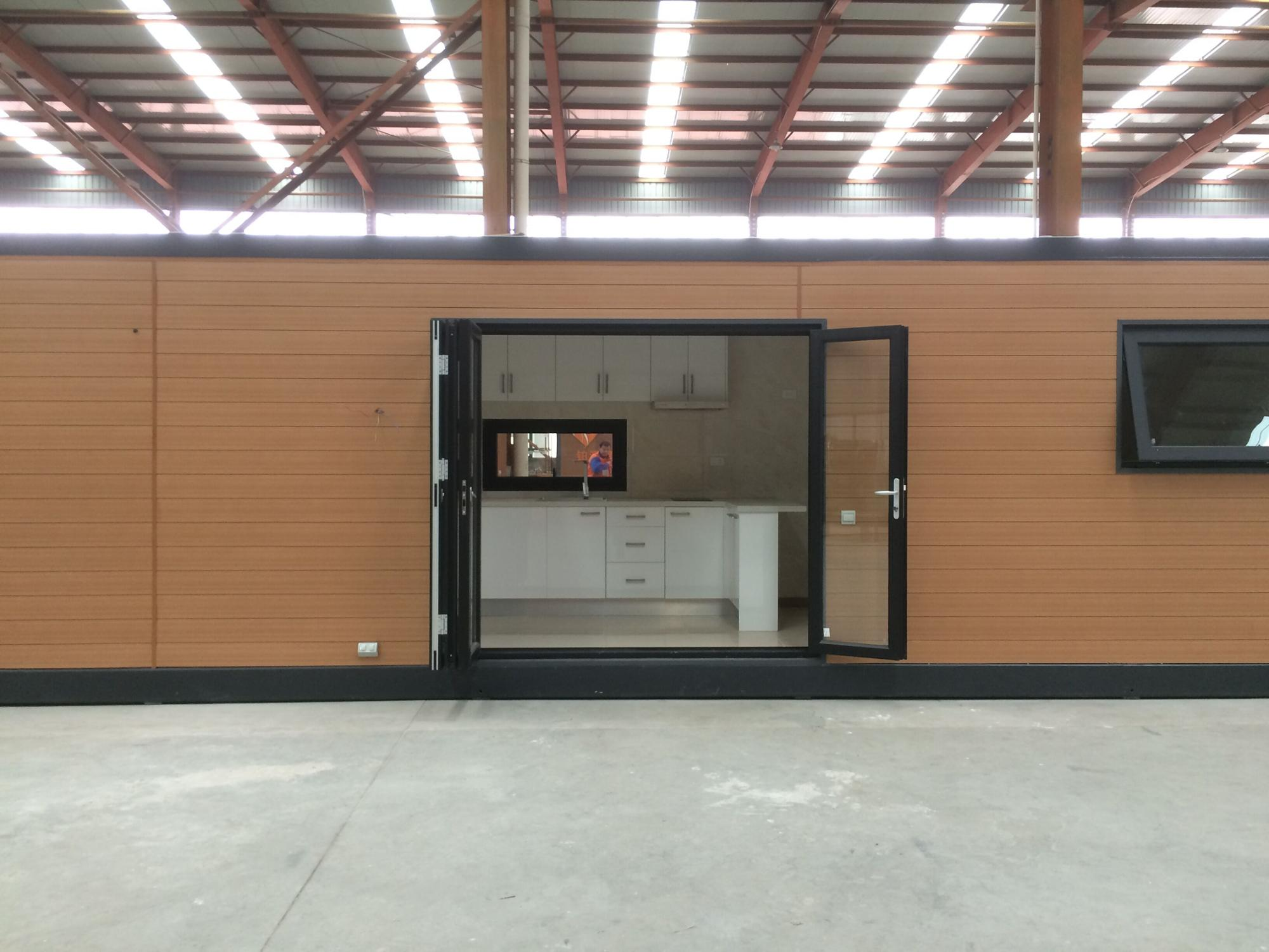 Turnkey Furnished Modern Industrial container house with cladding material
