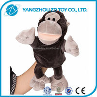 lovely fashionable soft puppet hand monkey