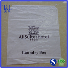 Customized logo two sides printing white cheap nylon drawstring bag manufactured by factory T&L brand
