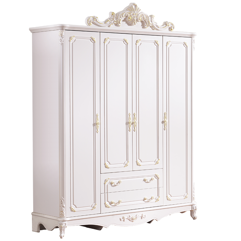 <strong>Antique</strong> Fancy Solid Wood MDF Bedroom Wardrobe