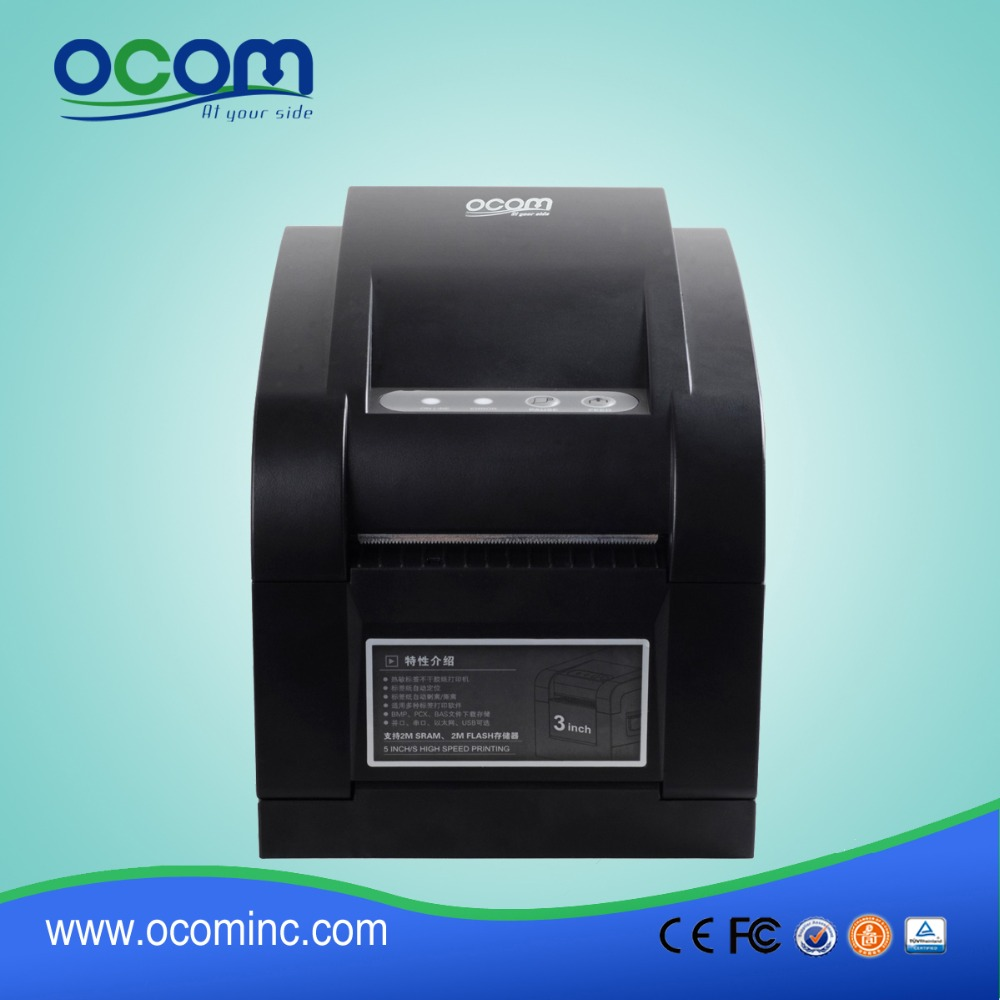 OCBP-005 high quality and good price label printing machine, barcode printer making sticker machine made by Chinese factory