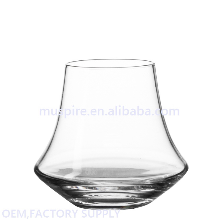 Quality assured hot sell pressed diamond cut drinking glass