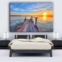 Decrative wall hanging picture sunset landscape outdoor canvas painting