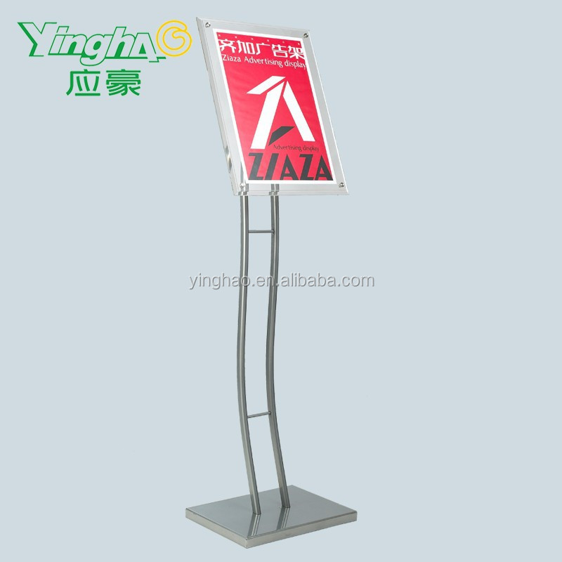Counter Metal Advertising Display Menu steel base poster stand