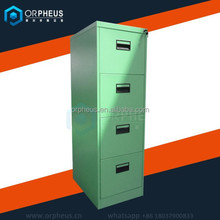 Lockable used steel storage A4 file folder office four drawer vertical filing cabinet