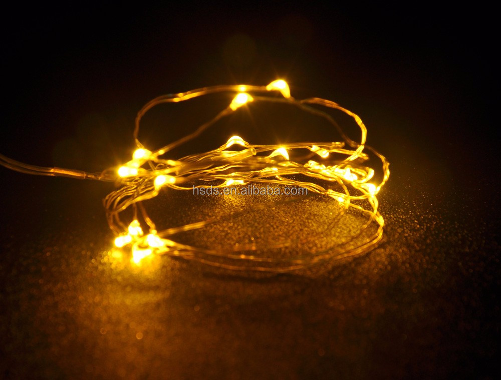 3*AA battery box operated mini LED lights holiday decorative copper wire LED fairy string lights