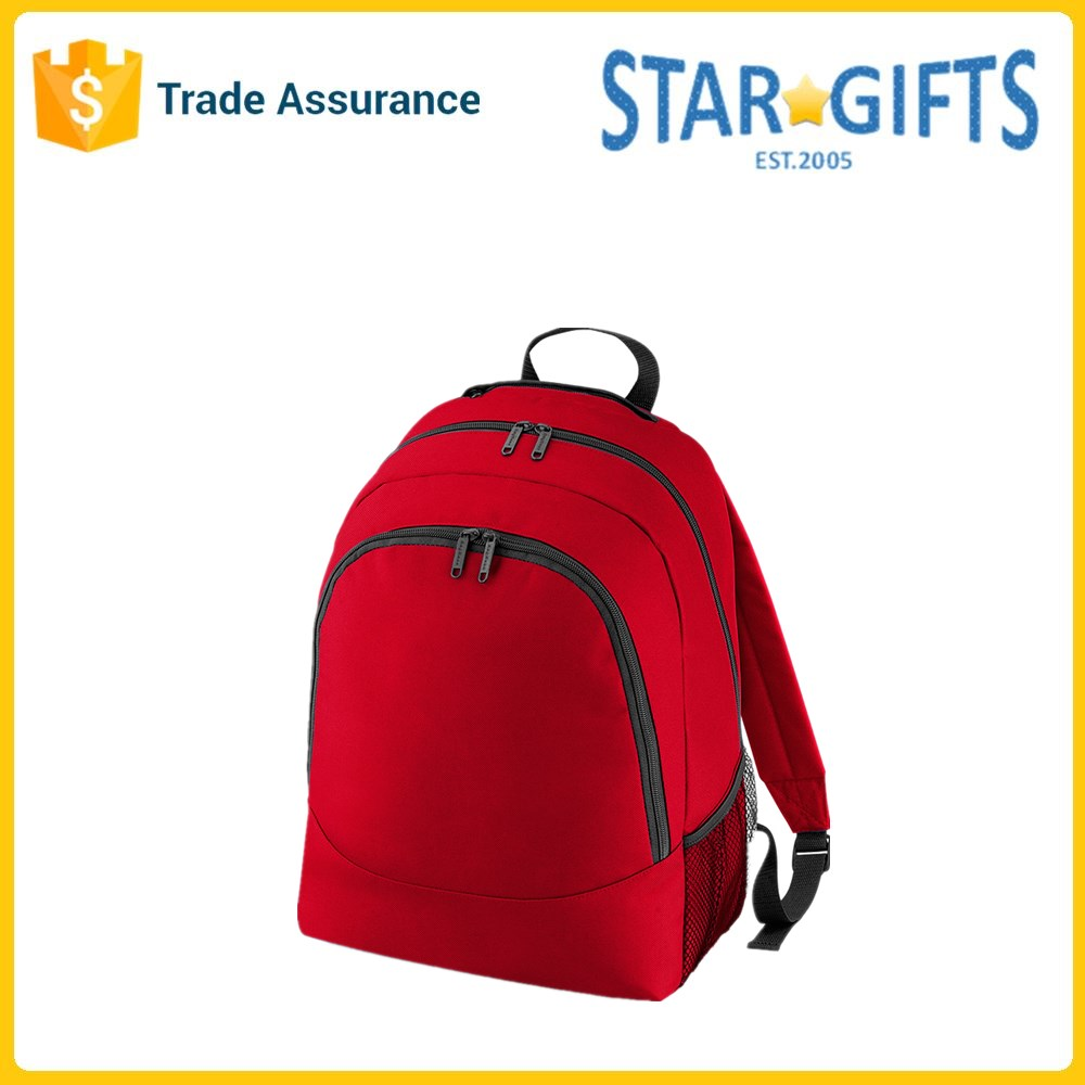 Wholesale 600D Polyester Custom Blank Gym Backpacks With Side Mesh Pocket