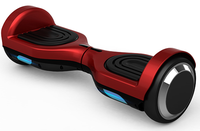 Red Smart Balancing Electric Scooter Drifting Board With Led Light