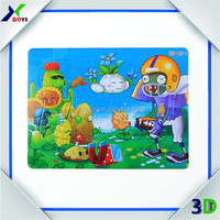 hot sale paper cutting puzzle, customized size and design