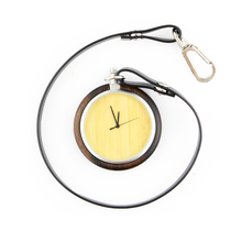 2018 Mens Custom Japan Movt Quartz Wood Pocket Watch