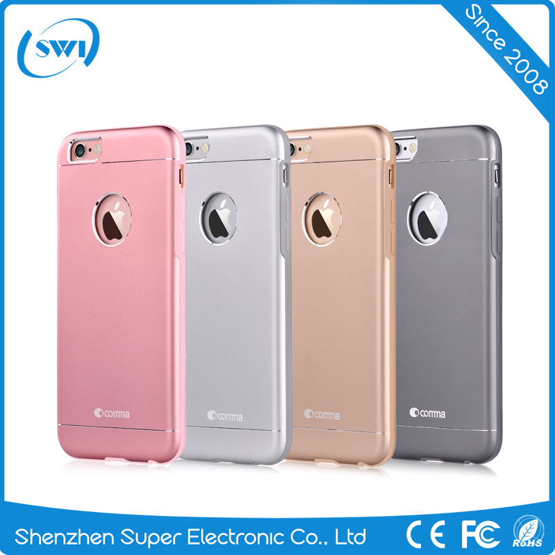 China Factory Aircraft Aluminium Metal Hard TPU PC Phone Case for iPhone 6 6s 6 Plus