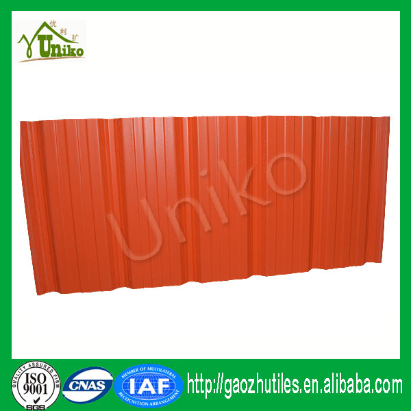 uv resistance co-extruded high quality lamination pvc roof tile