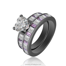 LYR01534 925 Sterling <strong>Silver</strong> Gold Plated Black CZ Ring For Men