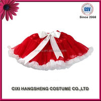 Wholesale OEM Children Sweet Red Fluffy Lace Tutu Dress