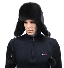 YR434E Men's Fox Hat/Russian Hot Sale Fur Hat