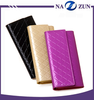 3 Colors Long Button Card Holder Lady Leather 2016 Real Leather Wallet