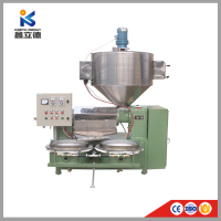 Newly crude castor oil making mini screw oil extract machine from factory