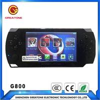 HD touch screen 4.3 inch dv mp4 mp5 handheld game player With Android Support for PSP games,PS1 games