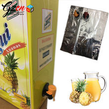 factory custom foil wine juice bag in box with plastic valve