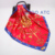 New Fashion Cheap Big Square Logo Printed Satin Silk Scarf for Women