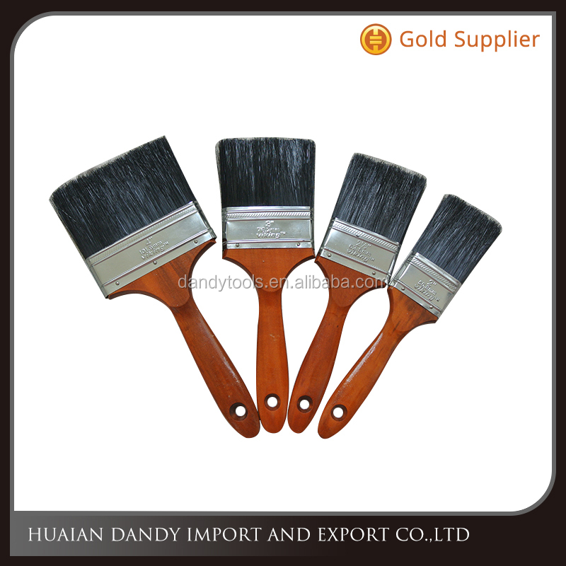 High quality wooden handle nylon bristle filament synthetic fiber full size paint brush