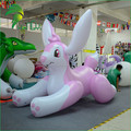 Customized Lovely Pink Inflatable Rabbit Bunny Cartoon Toy For Water Playing