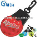battery led battery reflector clip keychain