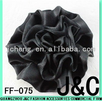 black color fashion handmade satin flowers for shoes