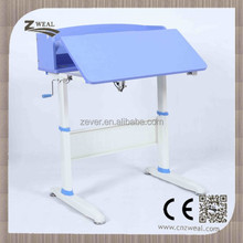 hot sell and stable School furniture height adjustable portable baby study table and chair