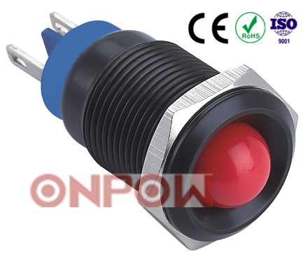 30 Years Industry Leader ONPOW Metal signal lamp GQ16G-D/A Dia. 16mm CE ROHS IP67 waterproof