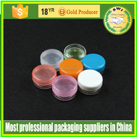 3g Plastic clear round stackable powder Jars in PS material