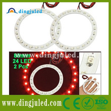 80mm Red 24 SMD LED Car Angel Eyes Ring Light for car