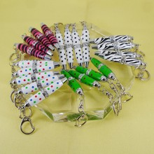 Crystal Ballpoint Pen Personalized Design and Size Dots Pattern Rotating action Keyring Bag Pen Jewellery Promotion Pens
