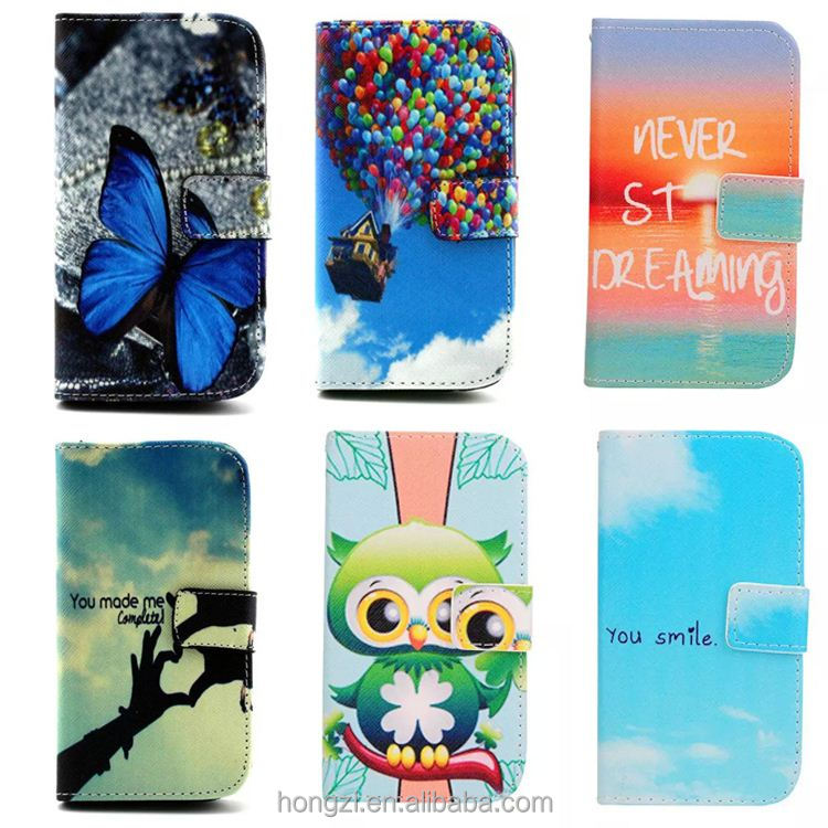 Wallet Design with Card Slots leather cell Phone Flip Cases Cover For Samsung Galay S3 S III 3 GT-i9300 i9300 s4 s5 s6 s7 edge
