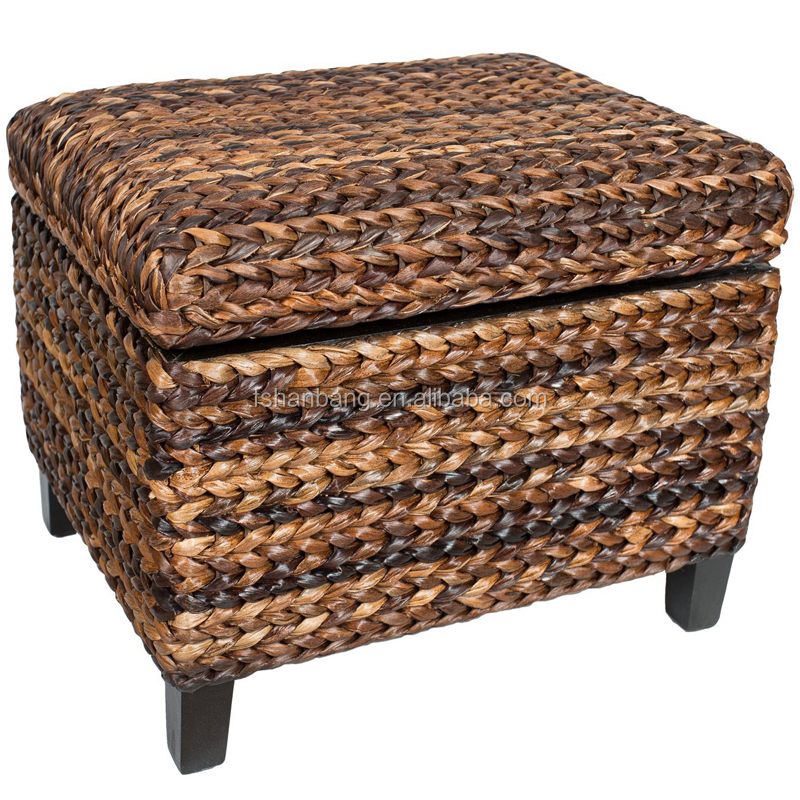 Natural rattan seagrass water hyacinth wicker storage for Seagrass coffee table