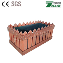 Tall tapered square planter for sale wood plastic composite flower boxes