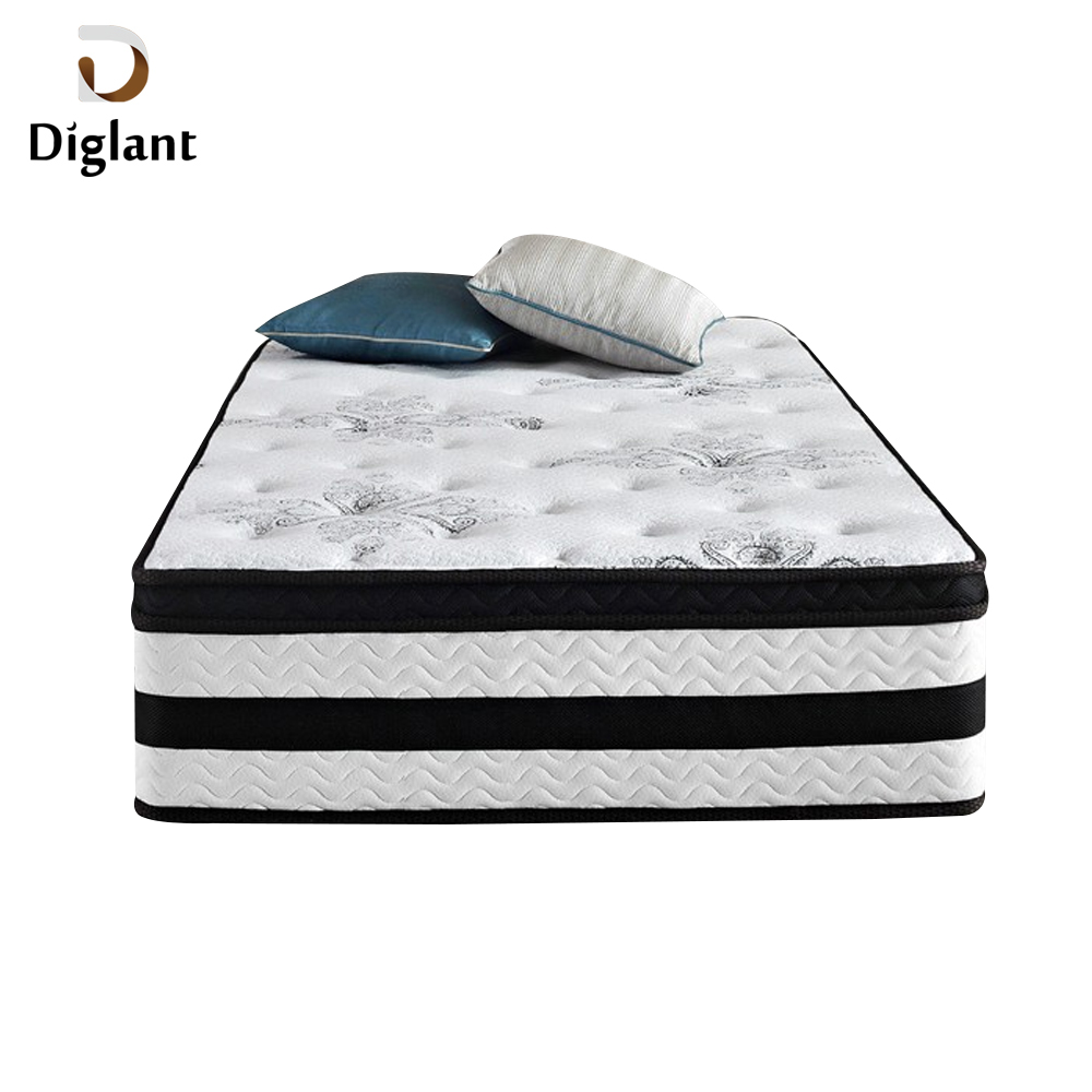 DM073 Diglant Gel Memory Latest Double Fabric Foldable King Size Bed Pocket bedroom furniture queen size bed with mattress - Jozy Mattress | Jozy.net