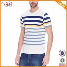 Hot Cotton Brand Clothing,Flat Knit Stripe Printed T Shirts