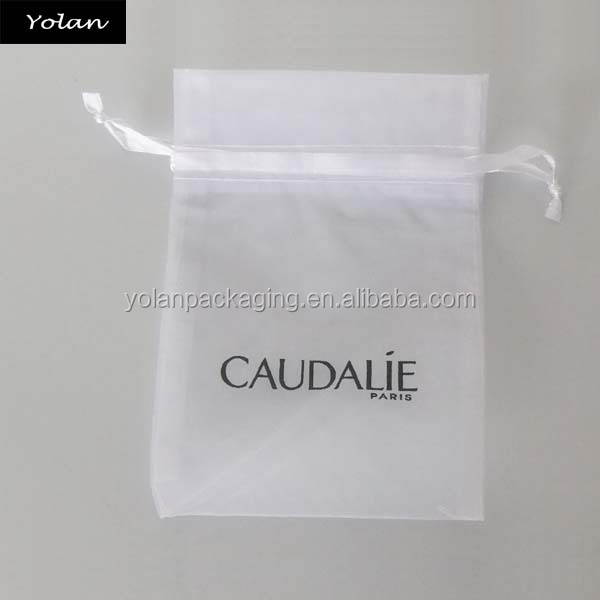 Wholesale Custom High Quality White organza gift bag, organza pouch