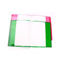Colored transparent book cover