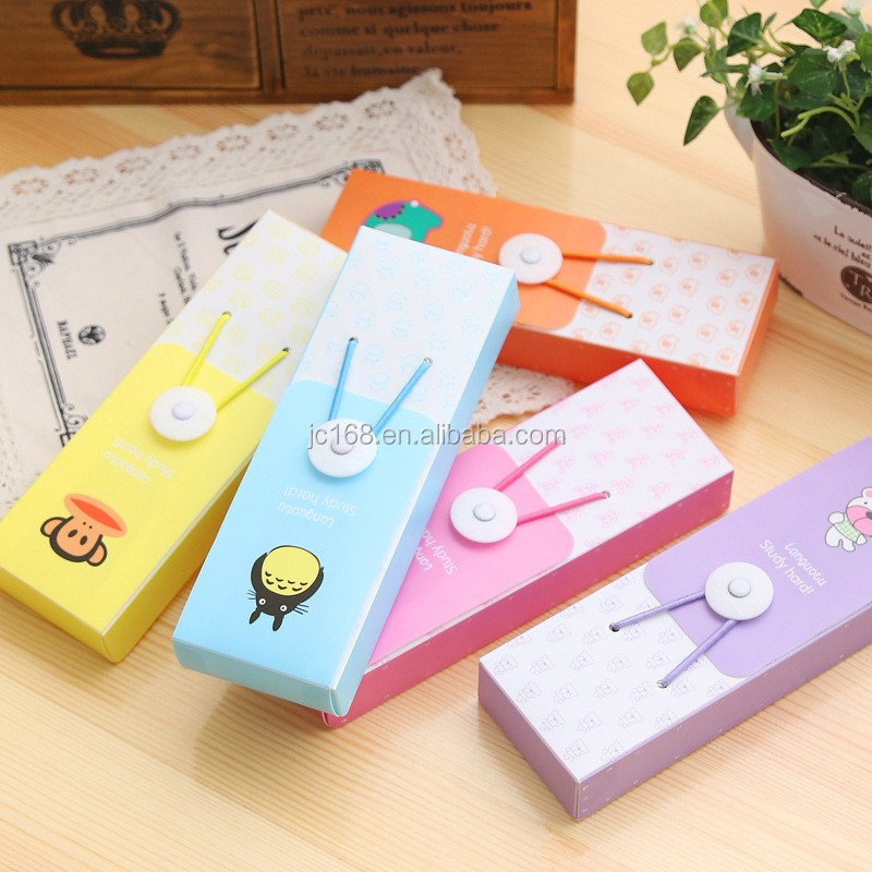 customized colorful pvc/pet pencil case pen packaging box