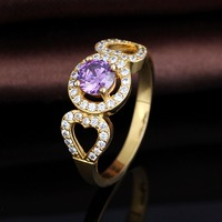Wholesale Alibaba Women Low Price Silver Plated Gold Ring