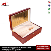 hot selling luxury wholesale wooden wine packaging box for wine shipping box with accessories