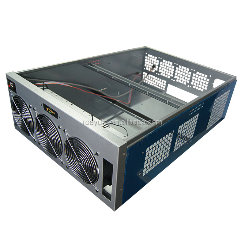 4u 8GPU DIY Computer Case For ethereum mining rig case universal type for motherboard Coin mining machine