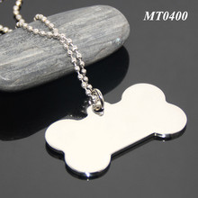 High Polished Mirror Effect Dog Bone Shaped Stainless Steel Promotional Blank Metal Fashion Dog Tag
