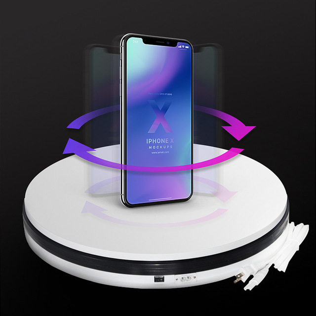 25cm 360 degree automatic display turntable for Photo box photography