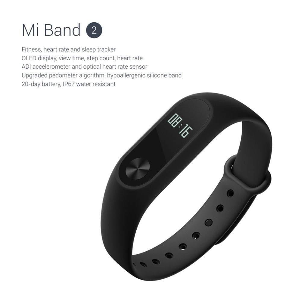 Original Xiaomi Miband 2 OLED Display Heart Rate Fitness smart band Bracelet Xiaomi Mi Band 2
